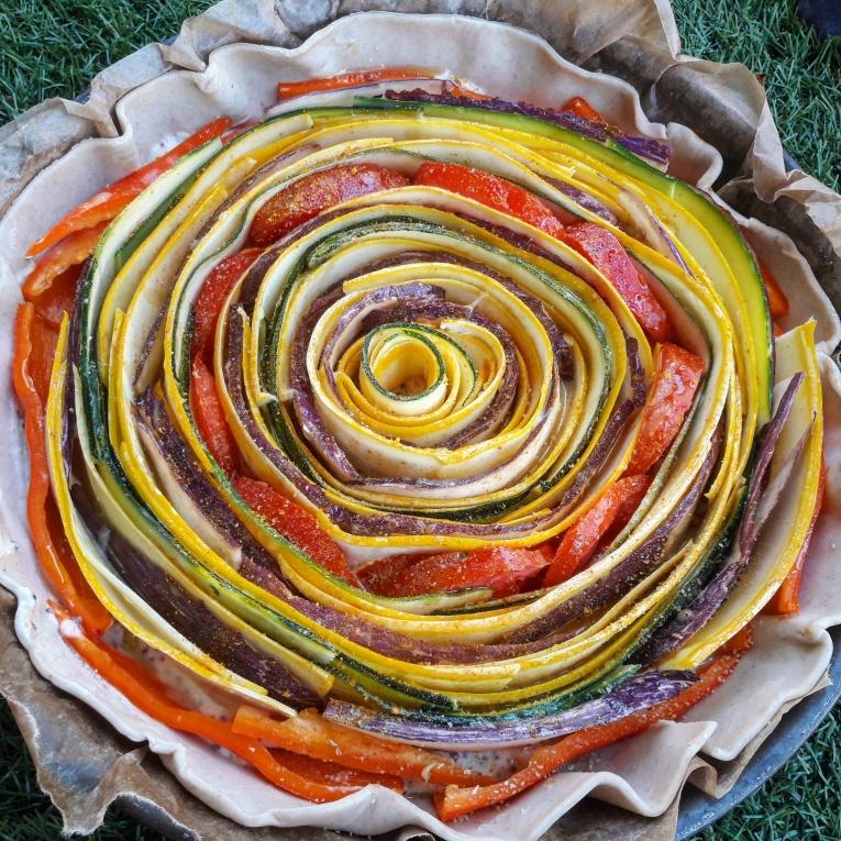 réalisation de recette saine - tarte soleil