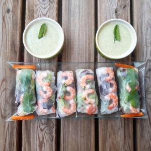 réalisation de recette sans gluten - thaï - rouleaux de printemps